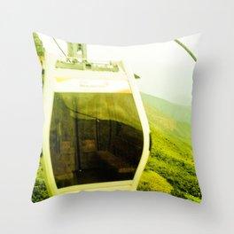 Cableway santandereano in green. Throw Pillow