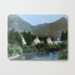 Blackfoot Camp Up the Cutbank in Montana Metal Print