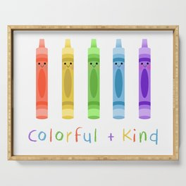 Colorful and Kind Crayons Serving Tray