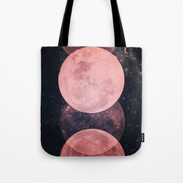 Pink Moon Phases Tote Bag