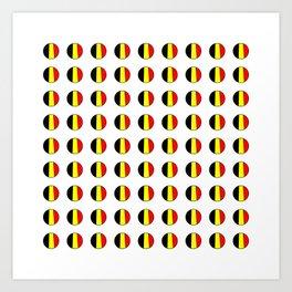 Flag of belgium 7 belgian,belge,belgique,bruxelles,Tintin,Simenon,Europe,Charleroi,Anvers,Maeterlinc Art Print