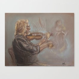 Musician in Motion Canvas Print