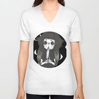 doll V-neck T-shirts featuring Doll by Deadkill