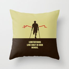 Lab No. 4 -Limitations live only in our minds corporate start-up quotes Poster Throw Pillow