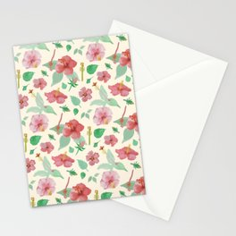 Hibiscus Pattern Stationery Cards