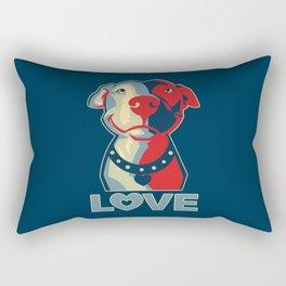 Pitbull - Love Rectangular Pillow