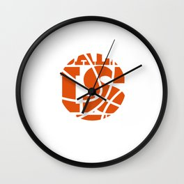 Ball is Life Graphic Basketball Sporting T-shirt Wall Clock