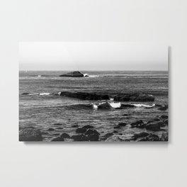 Grey Sea Metal Print