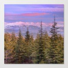 Mountains... pink sunset Canvas Print