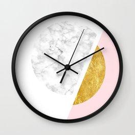 Modern Minimalist White And Gold Marble Art, Scandinavian Minimalism, Large Print Wall Art Decor Wall Clock