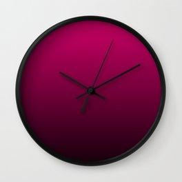 Black and Fuchsia Gradient Wall Clock
