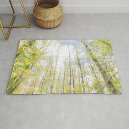 Colorful trees photography - Watercolor series #2 Rug