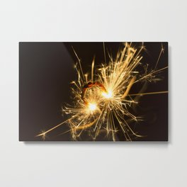 'Up in Smoke' (Sparks No.1) Metal Print