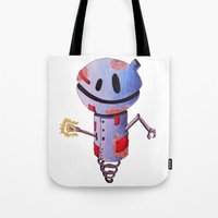 robot Tote Bags featuring Robot by Ciotti