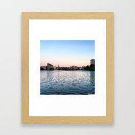 Clear & Blurry Lake Framed Art Print