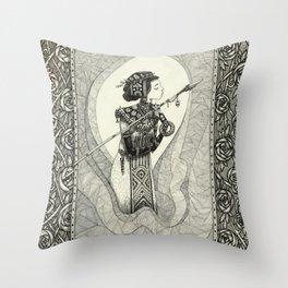 Lux in tenebris Throw Pillow