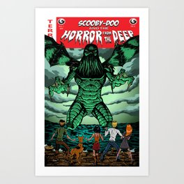 Horror From The Deep! Art Print