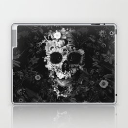 Garden Skull Dark B&W Laptop & iPad Skin