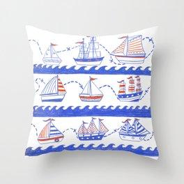Ship to Shore Throw Pillow