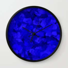 Rich Cobalt Blue Abstract Wall Clock