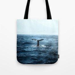Ocean Teal Whale Tote Bag