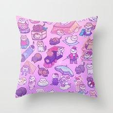 Neko Atsume Throw Pillow