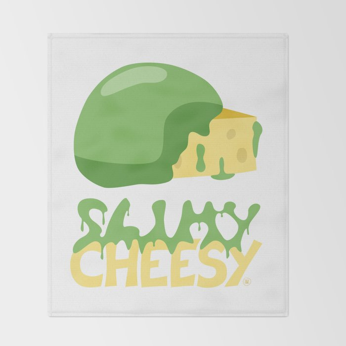 Slimy cheesy Throw Blanket