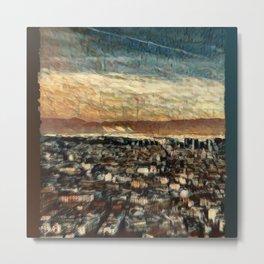 Napoli Skyline Metal Print