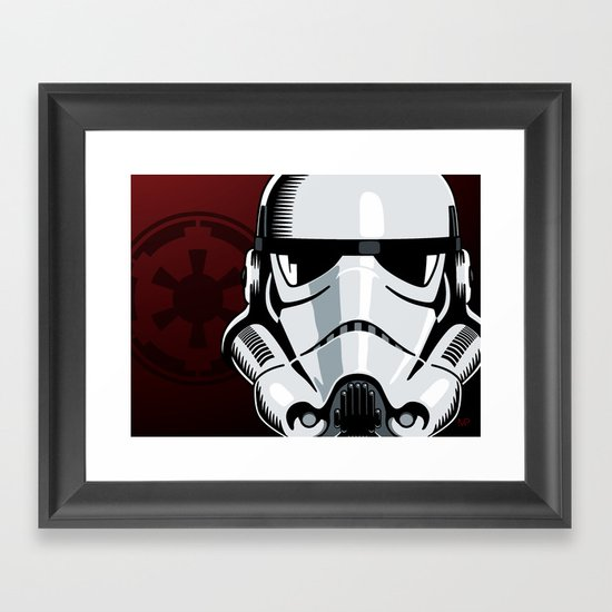Empire Stormtrooper Framed Art Print by Ikonographi | Society6
