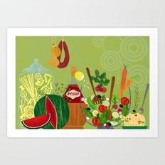 Italian Food Art Print