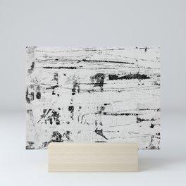 Distressed Grunge 102 B&W INVERSE Mini Art Print