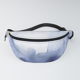 Moody Indigo Abstract Watercolor Fanny Pack