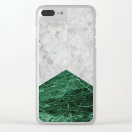 Concrete Arrow Green Granite #412 Clear iPhone Case
