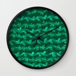 Fern Green Vines Wall Clock