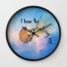 I Hear the Sea Calling Me Wall Clock