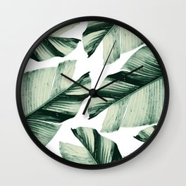 Tropical Banana Leaves Vibes #1 #foliage #decor #art #society6 Wall Clock