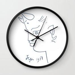 Jean Cocteau Tete de Faune (Head of Fauna), Artwork, Posters, Prints, Tshirts, Men, Women, Kids Wall Clock