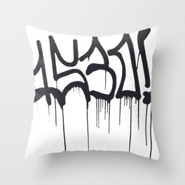 1530 Graffiti Handstyle Throw Pillow