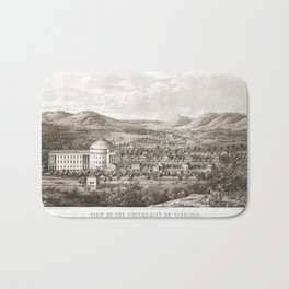 VIRGINIA University map CHARLOTTESVILLE dorm decor graduate Bath Mat