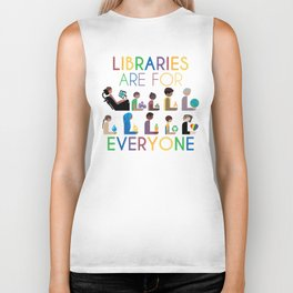 Rainbow Libraries Are For Everyone Biker Tank