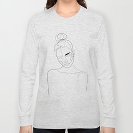 Lined Look Long Sleeve T-shirt