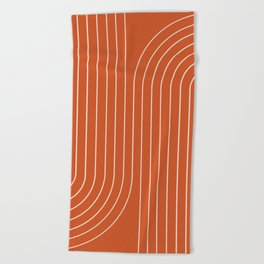Minimal Line Curvature IX Beach Towel
