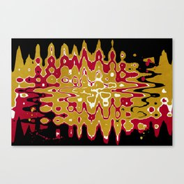 Black Gold Abstract Canvas Print
