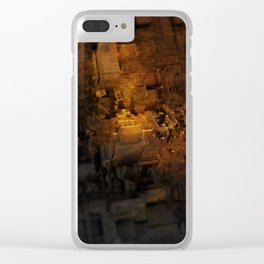Abract geometric cityscape rubble digital painting Clear iPhone Case