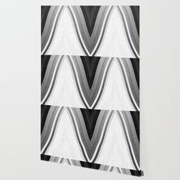 stripes wave pattern 6 bwbf Wallpaper
