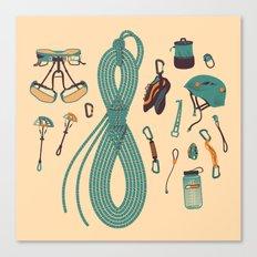 Climbing gear square Canvas Print