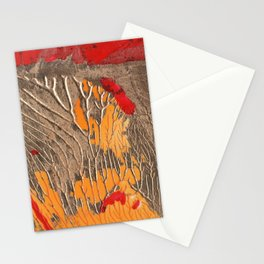 The tree of life gold abstract Stationery Cards