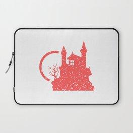 Spooky House Pattern Laptop Sleeve