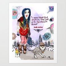 Department Store Saga Art Print