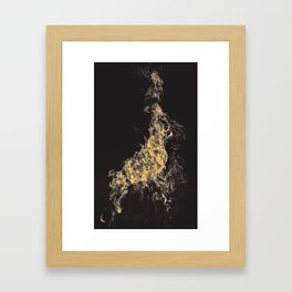 Yellow Flame Framed Art Print